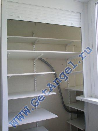 Роллетные шкафы getangel - наши работы - шкаф на балконе сер.