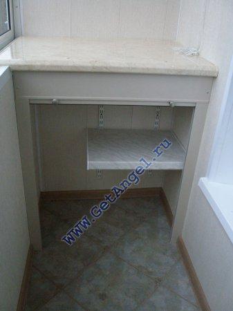Роллетные шкафы getangel - наши работы - мебель для балкона .